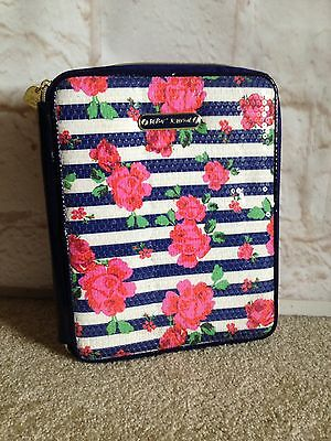 Betsey Johnsons Portfolio Organizer Multi color Floral Striped
