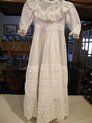 Vintage Antique/Vintage Christening Baby or Doll Gown With Lots of Lace