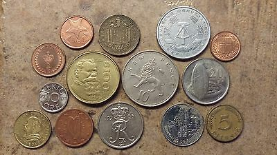Lot of 14 Foreign Coins - Circulated