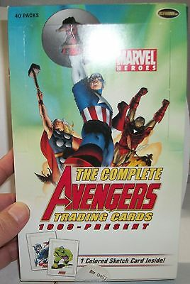 2006 Rittenhouse Archives The Complete Avengers 1963-Present empty box only