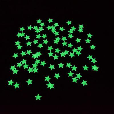 100pcs Glow In The Dark Star Baby Kids Room Home Wall Stickers Decal Decoration