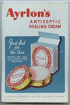 C.1950's Stand Up Pharmacy Tin Sign Ayrton's Antiseptic Cream Sold In Sa  B66