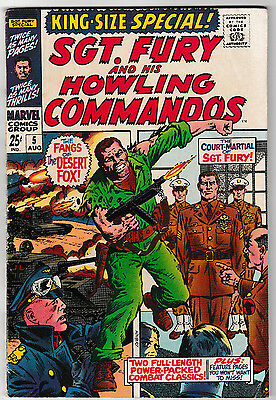 Sgt. Fury & His Howling Commandos King Size Special #5 VG/FN 1969 Marvel Comics