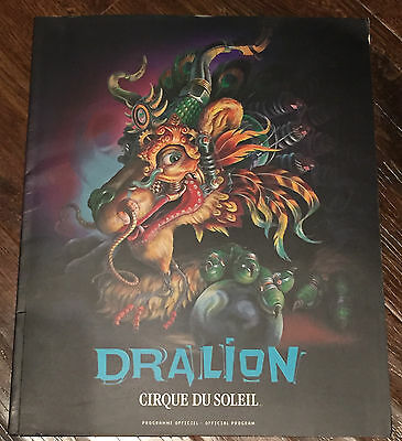 CIRQUE DU SOLEIL 2000 DRALION TOUR PROGRAM BOOK with FOLDER and Promo Letters