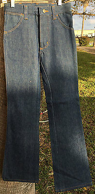 Sedgefield 5942 Student Plain Blue 70s Boot Cut Denim Jean