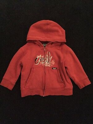 O'Neill Boys 2T/3T Red Hooded Zippered Sweatshirt