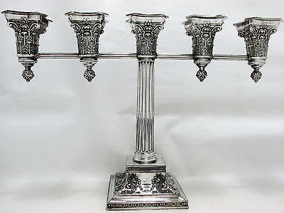 1924 Vintage Deco Corinthian Greek Revival Wilcox Sp Co. Five Lites Candelabra