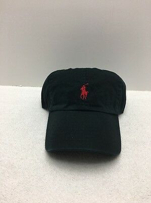 Polo Ralph Lauren Signature Pony Hat Black Red Pony Baseball Cap One Size