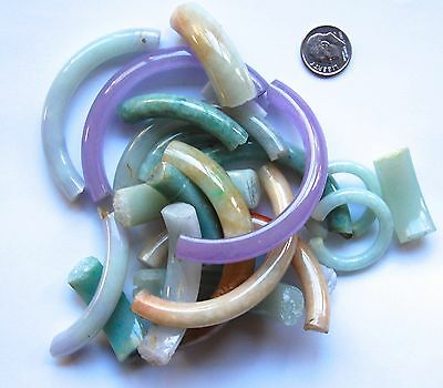 Wholesale Lot Of Loose Chinese Natural Jadeite Jade For Bangles Bracelets