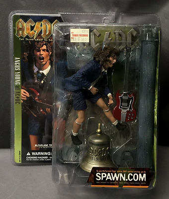 AC/DC Collectible: 2001 McFarlane Hells Bells Angus Young Figure & Gibson Guitar