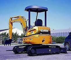 3.0 Tonne CASE CX31B Tonne Excavator Hire $295 a Day - Delivery Available