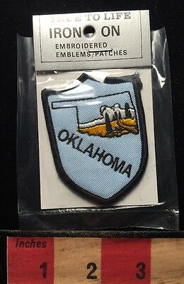 Un-Opened State Of OKLAHOMA Patch Emblem Travel Souvenir By True To Life 68WO