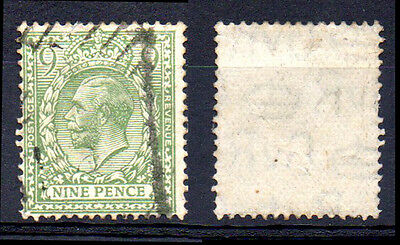 [1703] Great Britain 1912 KGV Pale green 9d Fine Used,nice condition.