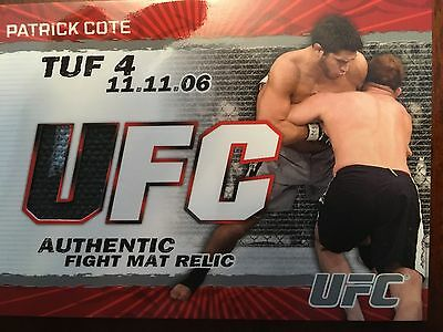 Topps Ufc 2009 Round 2 Patrick Cote Fight Mat Relic