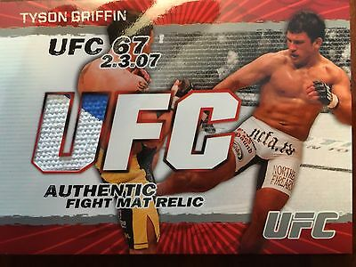 Topps Ufc 2009 Round 2 Tyson Griffin  Fight Mat Relic