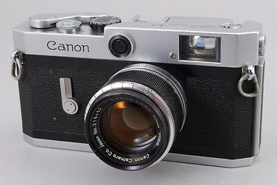 【Exc+++】 Canon P Rangefinder Body w/ leica 50mm F1.8 lens from japan #394