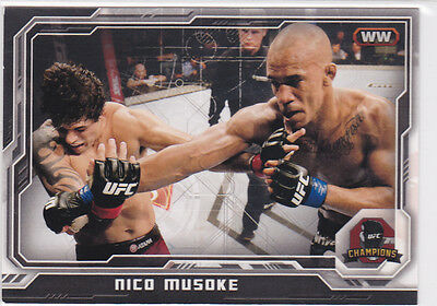 Topps Ufc 2014 Nico Musoke Card #196 Numbered 047/188