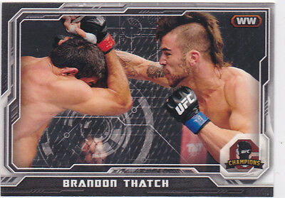 Topps Ufc 2014 Brandon Thatch Card #195 Numbered 044/188