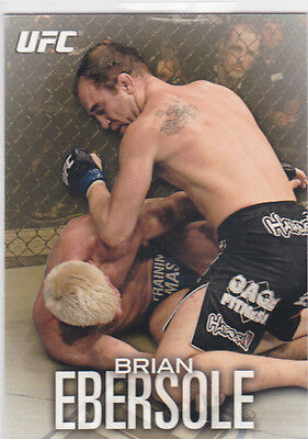 Topps Ufc 2012 Brian Ebersole Card #11 Numbered 125/188