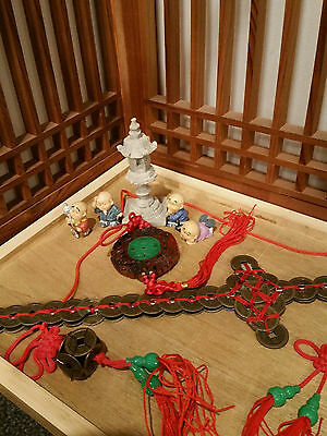 """13"""" Chinese Coin Sword, Feng Shui, plus 6 Lucky Charms"""