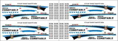43 Scale Ttc Toronto Transit Special Constable Decals New - Motormax Ford Sedan