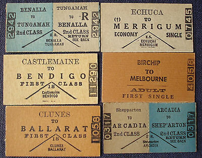 Victorian Railways tickets - Country Selection
