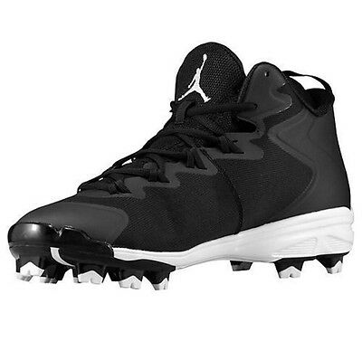NEW NIKE AIR JORDAN SUPERFLY 3 MCS Baseball Cleats Men Black 684939-010 - Size 9