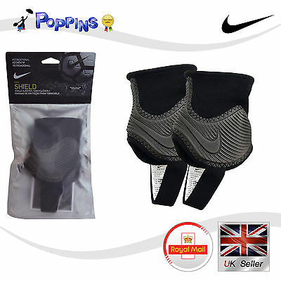 Nike Shield SP2096-010 Ankle Sleeves Ankle Guards ONE SIZE Black