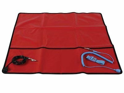 "Field Anti-Static Mat with Ground Cord - 24"" X 24""  AS9 FAST FREE SHIPPING"