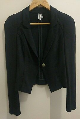 Women's Black Blazer Bettina Liano Jacket Size 6