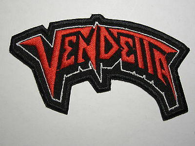 VENDETTA logo embroidered NEW patch thrash metal