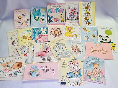 21 Baby Shower Cards Vintage 1962 Greeting Cards