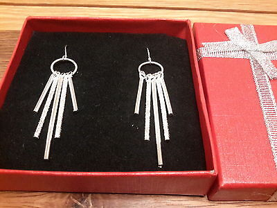 Brand new  Silver 925 stamped  earrings with gift box