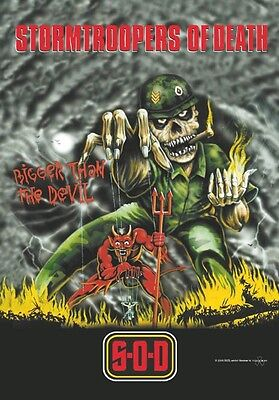 S.O.D. sod stormtroopers of death Textile Poster Flag ANTHRAX NUCLEAR ASSAULT