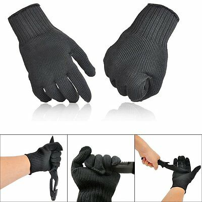 1 Pair Stainless Steel Wire Safety Work Anti-Slash Cut Proof Resistance Gloves