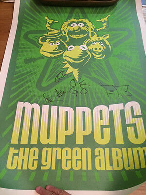 OK GO - The Green Album Muppets Signed Poster - The Strokes - The Muppets