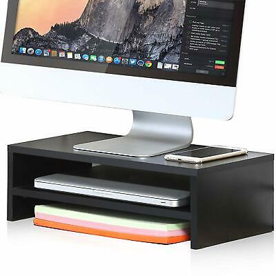 FITUEYES 2 Layer Monitor Riser TV/Laptop/PC/IMAC/Printer Stand,Desktop Organiser