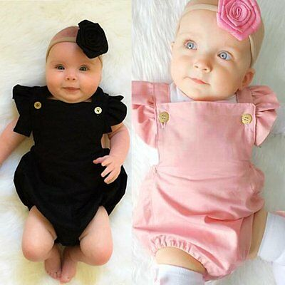 Newborn Infant Baby Girl Boys Bodysuit Romper Jumpsuit Clothes Outfits Sunsuit
