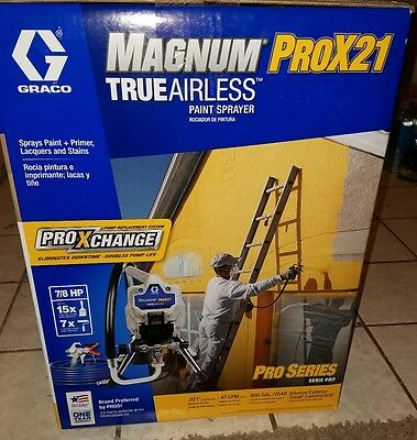 NEW!!! Graco Magnum ProX21 Airless Compact Paint Sprayer 17G181