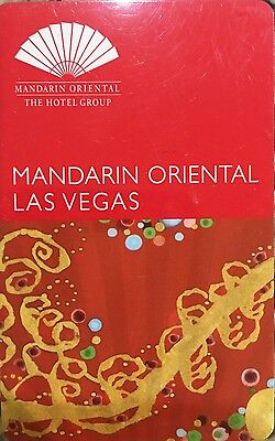 Mandarin Oriental KEY Card Las Vegas Red With Gray Background
