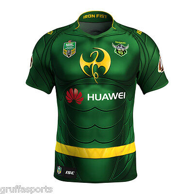 Canberra Raiders 2017 Marvel Iron Fist Jersey Mens, Ladies & Kids Sizes ISC NRL