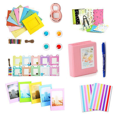 8 in 1 Instant Camera Accessories Bundle Set for Fujifilm Instax Mini 8 Cam Pink