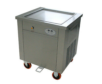 1500W Commercial Fried Ice Cream Machine Square Pan Ice Cream Roll Maker 220V Y