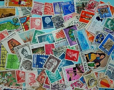 2489 Collection Mixture Lot of World stamps off paper 100 stamp pack all types