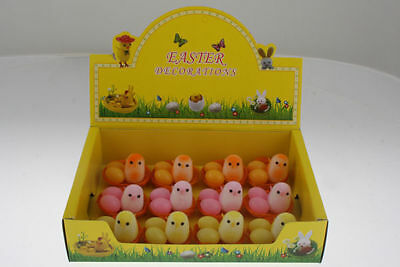 48 packs of 3 easter chicken and egg set assorted colours bulk wholesale lot