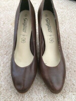 Leather Brown Court Shoes Size 41 (7.5)