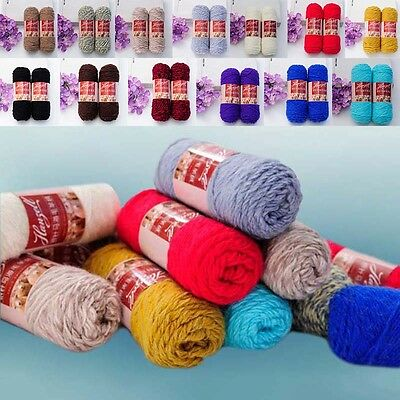 New Style 100g / Ball Skeins Thick Soft Worsted Wool Hand-Knitted Baby Yarn Wool