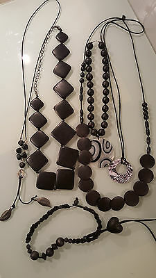 Fashion Costume Necklaces & Pendents ,7  Wooden Jewellery ,large Statment Pieces