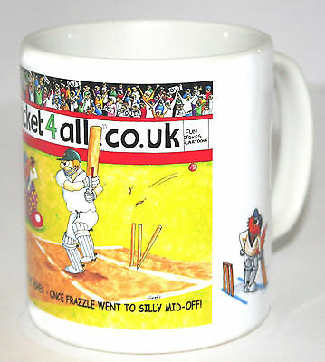 The Ashes.silly Mid Off Cricket Mug.great Gift.new.bnib