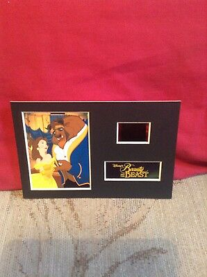 Disney beauty and the beast  6x4 film cell display 7 DAY SALE